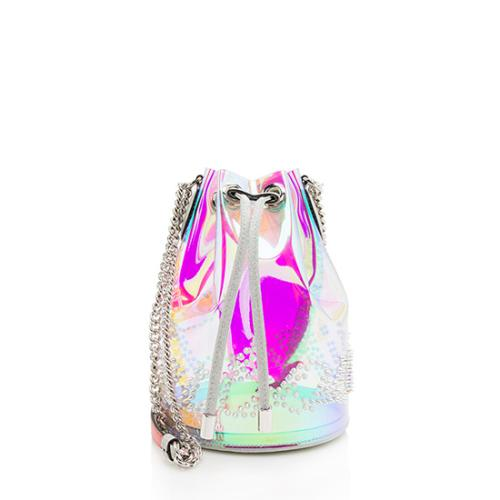 Christian Louboutin PVC Glitter Sunset Marie Jane Mini Bucket Bag