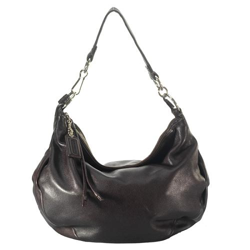 Coach Ali Leather Convertible Hobo Handbag