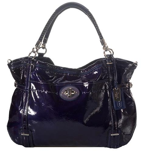 Coach Audrey Flagship Patent Leather Tote