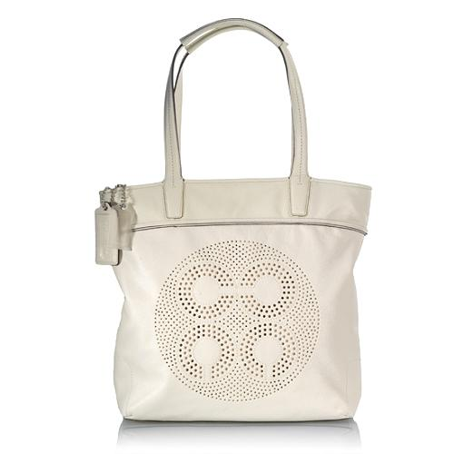 Coach Audrey Leather Leigh Slim Tote