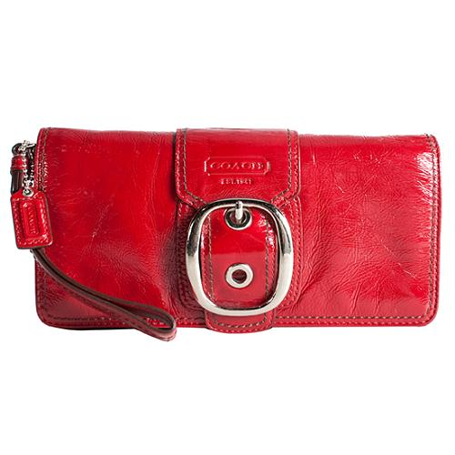 Coach Bleecker Crinkle Patent Leather Clutch