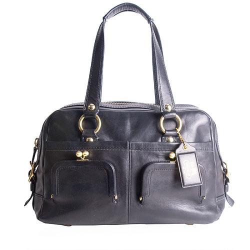 Coach Bleecker Leather Ellie Satchel Handbag