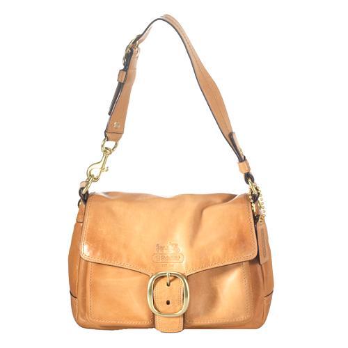 Coach Bleecker Leather Flap Shoulder Handbag