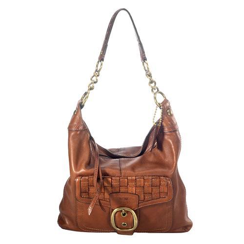 Coach Bleecker Leather Pocket Hobo Handbag