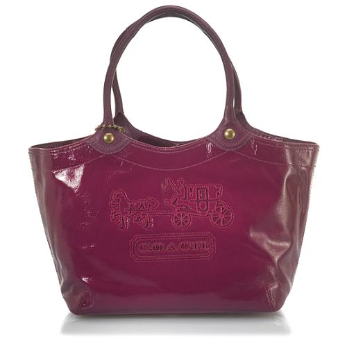 Coach Bleecker Patent Leather Large Tote