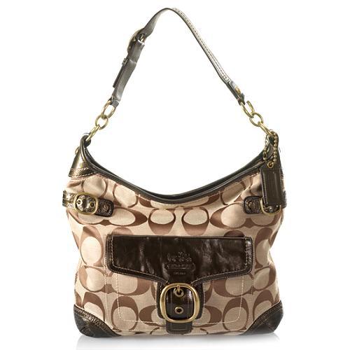 Coach Bleecker Signature Pocket Hobo Handbag
