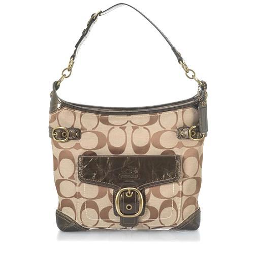 Coach Bleecker Signature Stitched Pocket Hobo Handbag