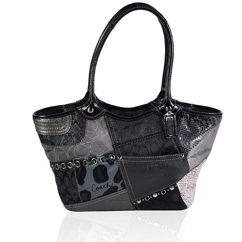 Coach Bleecker Signature Tonal Patchwork Tote