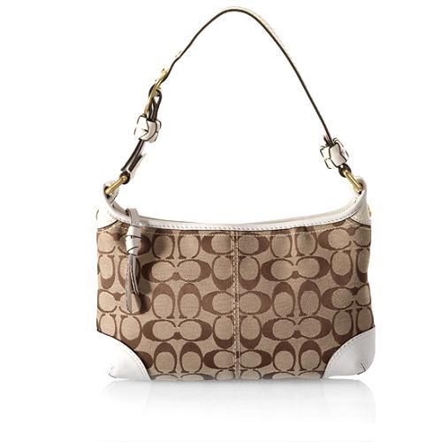 Coach Bleecker Signature Zip Shoulder Handbag