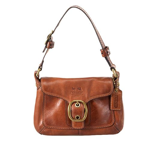 Coach Bleecker Small Leather Flap Shoulder Handbag