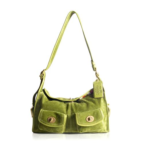 Coach Bleecker Suede Haversack Shoulder Handbag