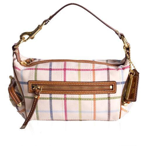 Coach Bleecker Tattersall Top Handle Handbag