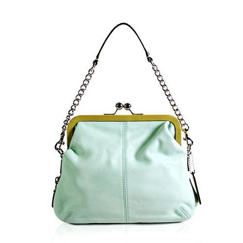 Coach Bonnie Framed Leather Shoulder Handbag