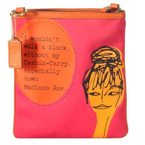 Coach Bonnie Novelty Printed Swingpack Shoulder Handbag