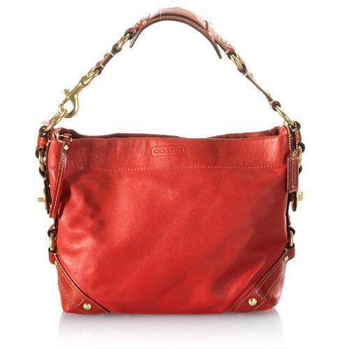 Coach Carly Leather Hobo Handbag
