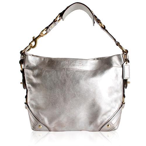 Coach Carly Metallic Hobo Handbag