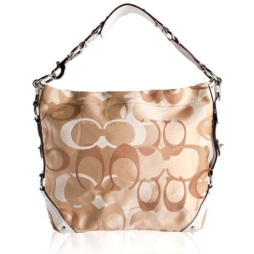 Coach Carly Optic Signature Large Hobo Handbag