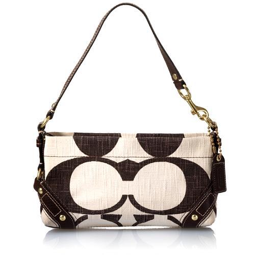Coach Carly Signature Cotton Demi Shoulder Handbag