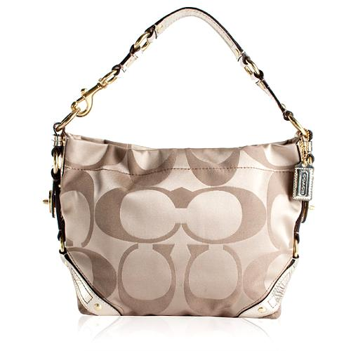 Coach Carly Signature Hobo Handbag and Matching French Wallet