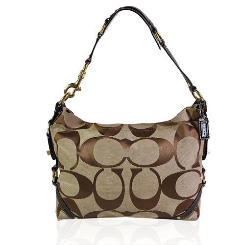 Coach Carly Signature Hobo Handbag