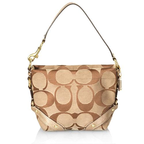 Coach Carly Signature Hobo Handbag