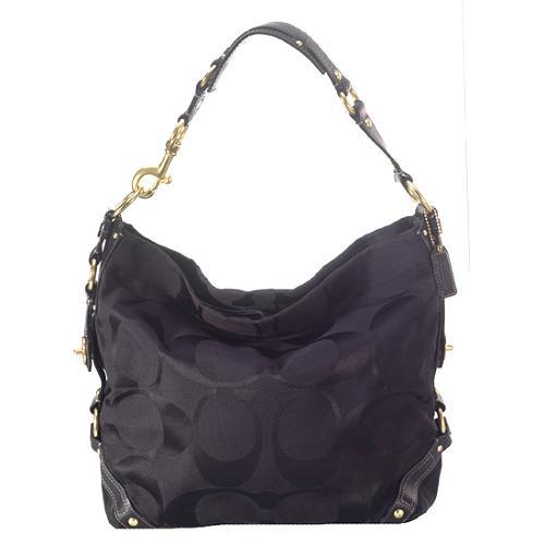 Coach Carly Signature Large Hobo Handbag