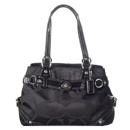Coach Carly Signature Sateen Carryall Satchel Handbag