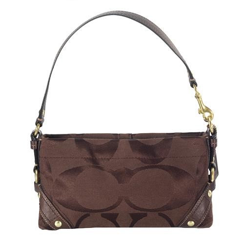 Coach Carly Signature Small Shoulder Handbag