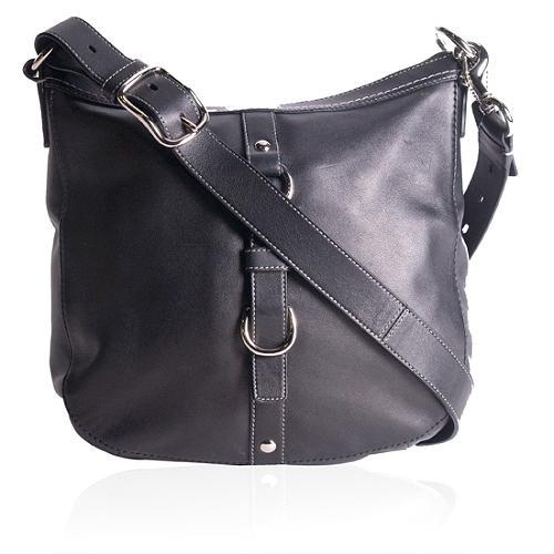 Coach Chelsea Black Leather Duffle Shoulder Handbag