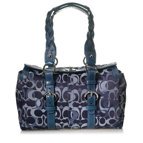 Coach Chelsea Optic Signature Satchel Handbag