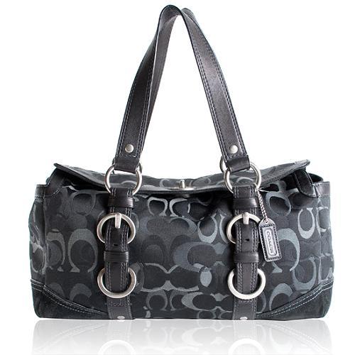 Coach Chelsea Optic Signature Satchel Handbag