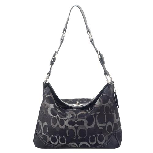 Coach Chelsea Optic Signature Shoulder Handbag