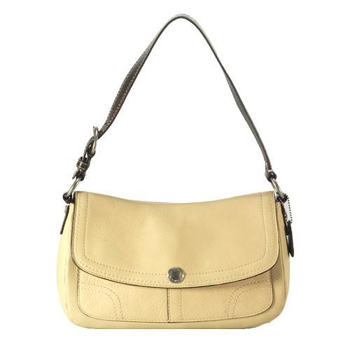 Coach Chelsea Pebbled Leather Flap Shoulder Handbag