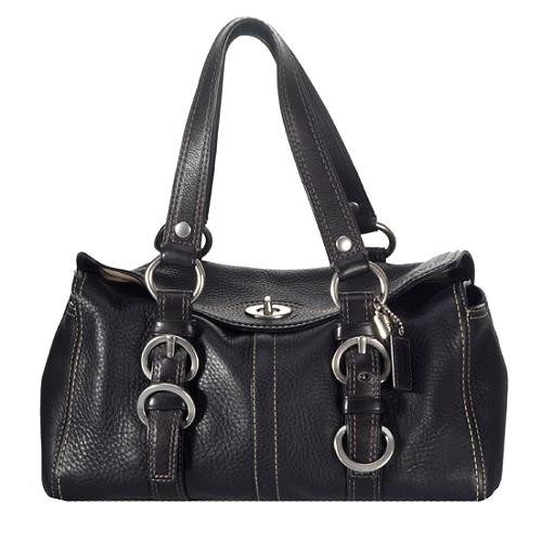 Coach Chelsea Pebbled Leather Satchel Handbag