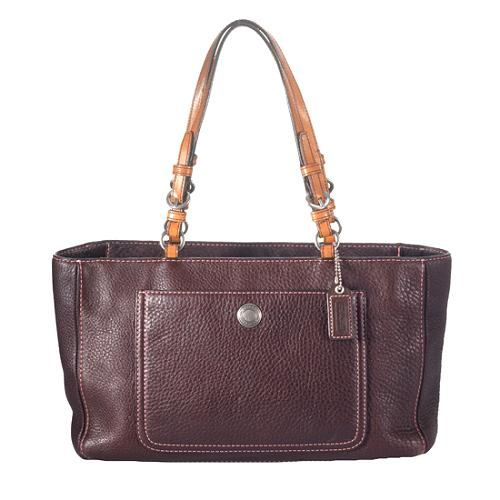 Coach Chelsea Pebbled Leather Zip Tote