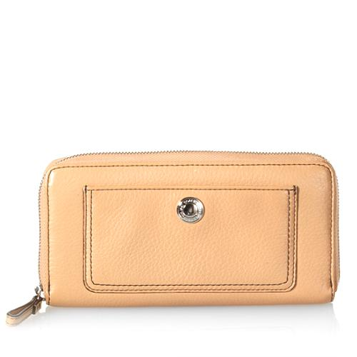 Coach Chelsea Pebbled Leather Zip Wallet