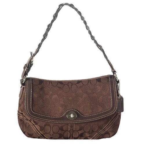 Coach Chelsea Signature Large Flap Shoulder Handbag