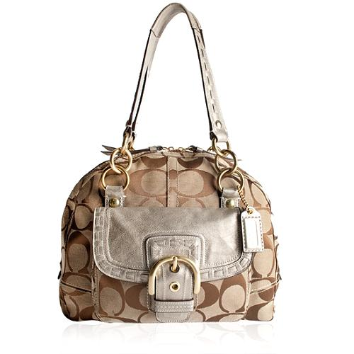 Coach Courtney Signature Satchel Handbag