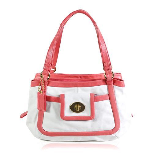 Coach Cricket Leather Satchel Handbag