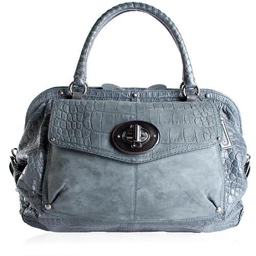 Coach Croc Embossed Sadie Satchel Handbag