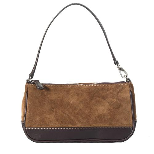 Coach Demi Suede Shoulder Handbag