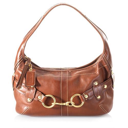 Coach Ergo Belted Leather Hobo Handbag