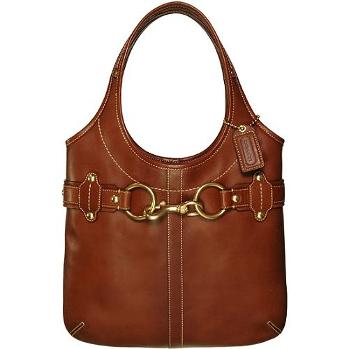 Coach Ergo Belted Leather Magazine Tote