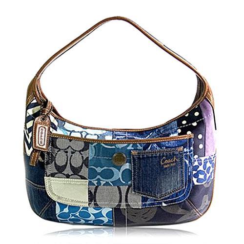 Coach-Ergo-Denim-Patchwork-Hobo-Handbag 30786 front large 1.jpg a3730ce23b517