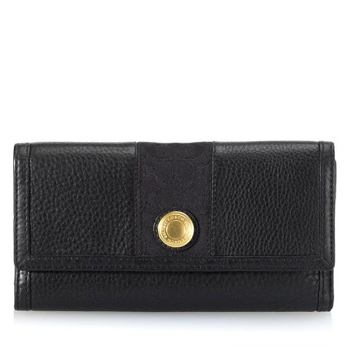 Coach Ergo Leather Checkbook Wallet