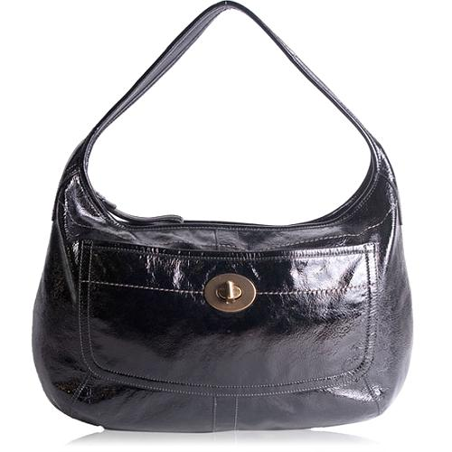 Coach Ergo Patent Leather Large Hobo Handbag
