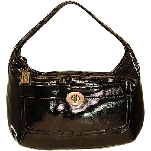 Coach Ergo Patent Leather Large Hobo Handbag