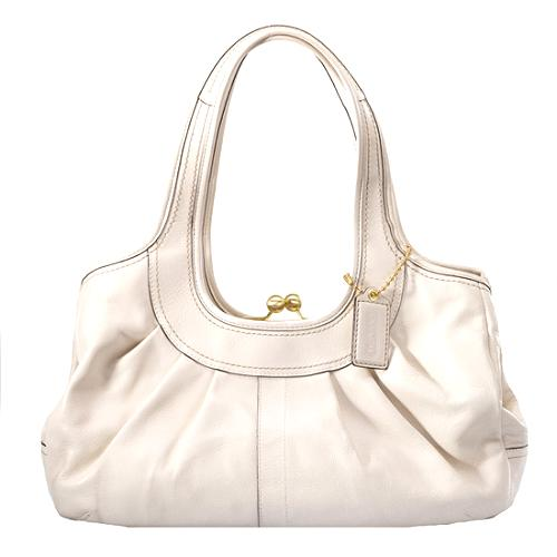 Coach Ergo Pleated Leather Tote