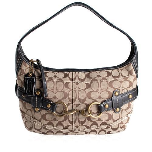 Coach Ergo Signature Belted Hobo Handbag