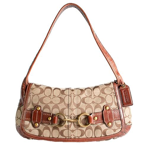 Coach Ergo Signature Belted Shoulder Handbag